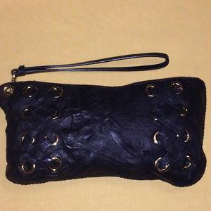 Michael Kors Vintage Leather Clutch Wristlet